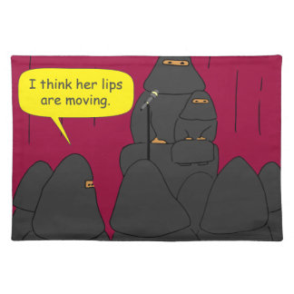 095 saw her lips move 2016 cartoon placemat