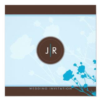 "098 Sara :: WEDDING INVITES meadow flowers 6SQ 5.25"" Square Invitation Card"