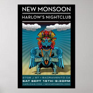 09-15-2012 New Monsoon - Harlow's - Sacramento, CA Poster