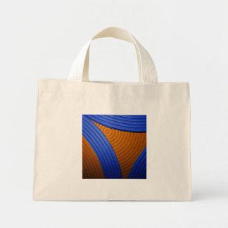 09 azul y naranja agita el bolso bolsa de mano