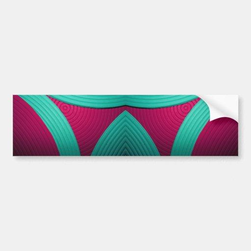 09 Blue & Pink Bumper Sticker