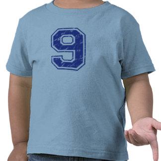 09 Custom Jersey Blue Tee Shirt