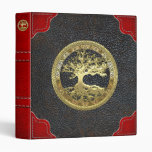 [09] Golden Celtic Tree of Life 3 Ring Binder