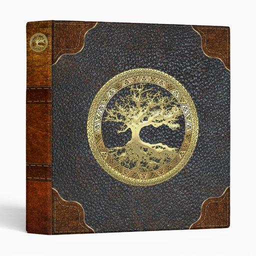 [09] Golden Celtic Tree of Life Vinyl Binders