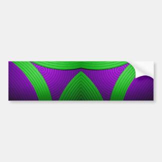 09 Green & Purple Bumper Sticker Car Bumper Sticker