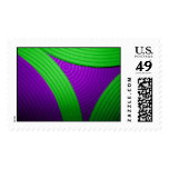 09 Green & Purple Large Postage Stamp