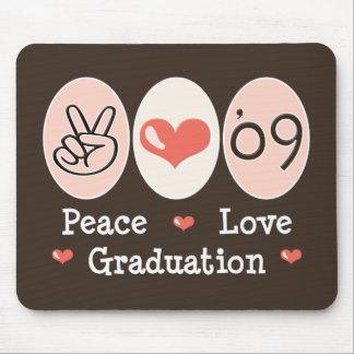 09 Peace Love Graduation Mousepad