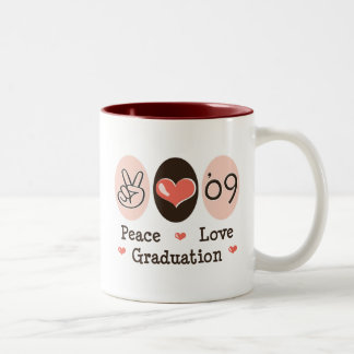 09 Peace Love Graduation Mug