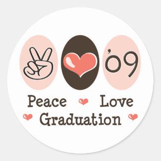 09 Peace Love Graduation Stickers