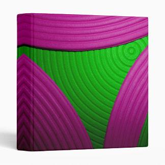 "09 Pink & Green Echo 1"" Avery Binder"