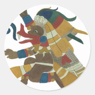 09.Quetzalcoatl - Mayan/Aztec Creator good Classic Round Sticker