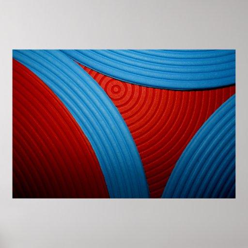 09 solas curvas y poster azules y rojos del triáng