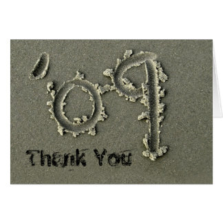 '09 thank you note card