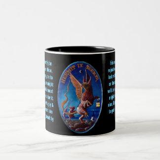 09. The Hermit - Alice tarot Two-Tone Coffee Mug