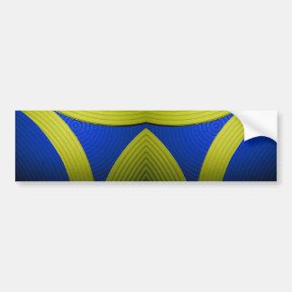 09 Yellow & Blue Bumper Sticker