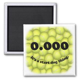¡0,000, comienzo perfecto de Flyball! Imán del ref