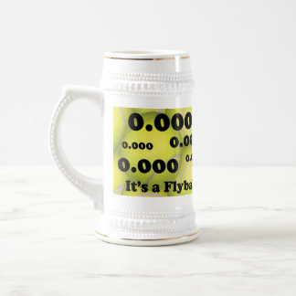 0.000, the perfect Flyball start! Beer Stein Mugs
