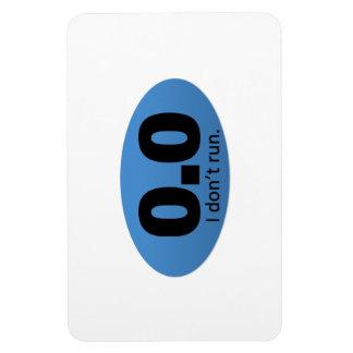 0.0 I don't run. Rectangular Photo Magnet