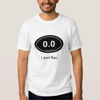 0,0 No camiseta fresca oscura del corredor Poleras