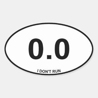 0,0 No corredor Calcomanías De Ovales Personalizadas