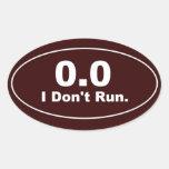 0,0 No corro. pegatina