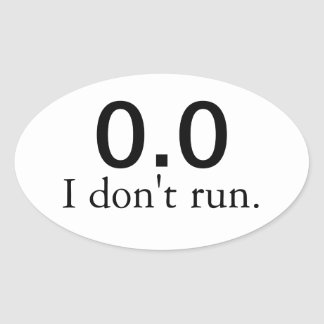0,0 No corro. pegatinas Pegatinas De Ovaladas