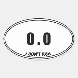 0,0 No pegatinas del óvalo del corredor Pegatina Ovalada