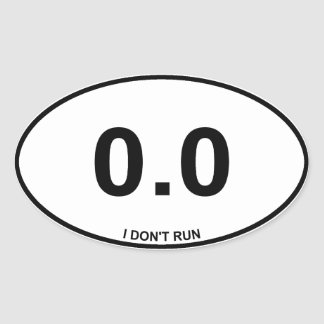 0.0 Non Runner Oval Sticker