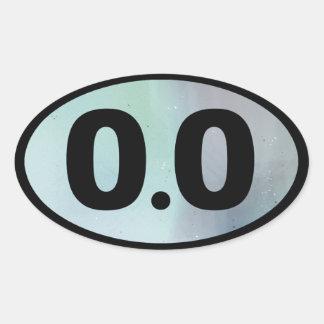 0.0 OVAL STICKER