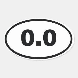 0,0 PEGATINA OVALADA
