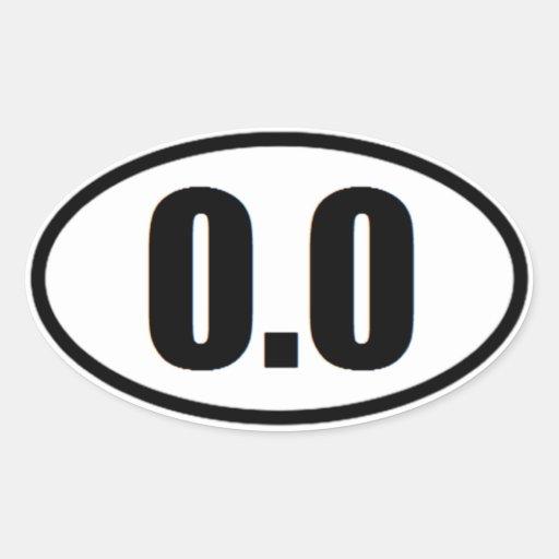 0,0 pegatinas divertido del corredor de maratón pegatina óval personalizadas