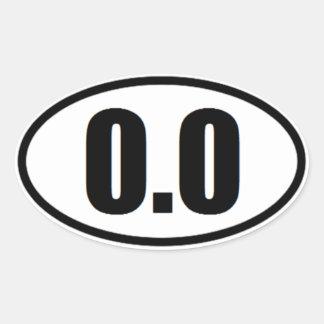 0,0 pegatinas divertido del corredor de maratón pegatina ovalada