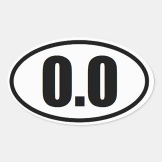 0,0 pegatinas ovales