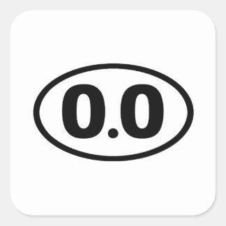 0.0 SQUARE STICKER