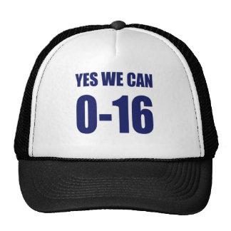 0-16 podemos sí camiseta gorros bordados