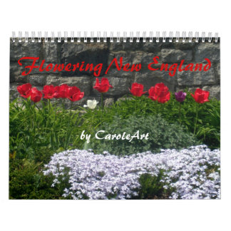 0 2012 Nueva Inglaterra de florecimiento Calendario De Pared