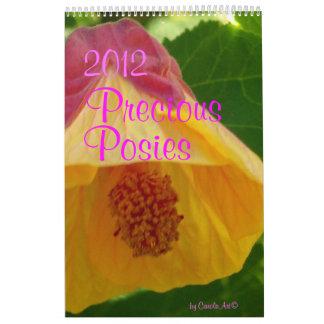 0 2012 Precious Posies Wall Calendar