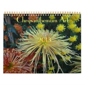 0 2013 artes del crisantemo calendarios
