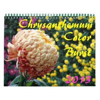 0 2013 explosiones de color del crisantemo calendarios de pared