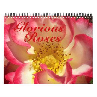0 2013 Glorious Roses Wall Calendar