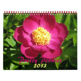 0 2013 Peonies bonitos Calendarios