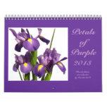 """0 2013 """"pétalos de púrpura """" calendario de pared"""