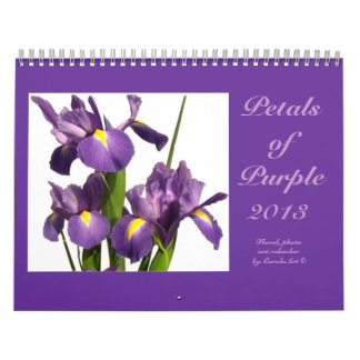 "0 2013 ""Petals of Purple"" Calendar"