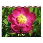 0 2013 Pretty Peonies Wall Calendar