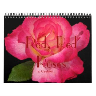 0 2013 rosas rojos rojos calendarios de pared