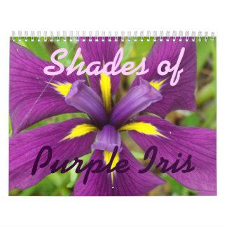 0 2013 sombras de iris púrpura calendario