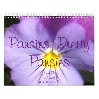 0 2014 Pansies, Pretty Pansies Calendar