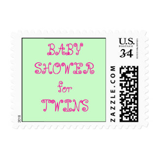 0 29 cent Baby Shower Twins Postage