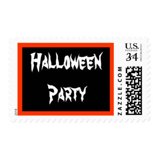 0 29 cent Halloween Party Postage Stamp