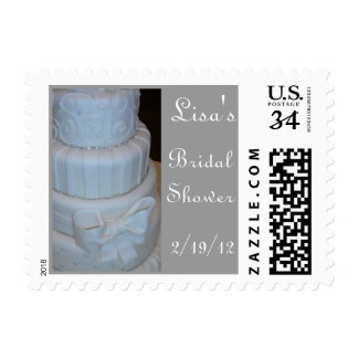 0 29 cent Personalize Bridal Shower postage stamp